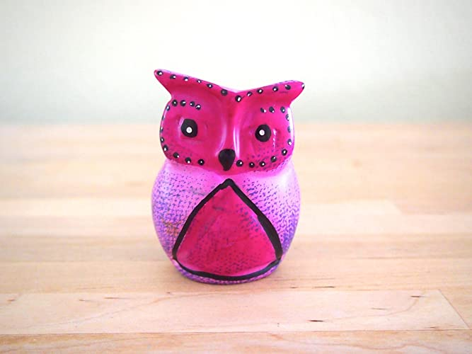 amazon com handcrafted african pink soapstone owl sculpture made in