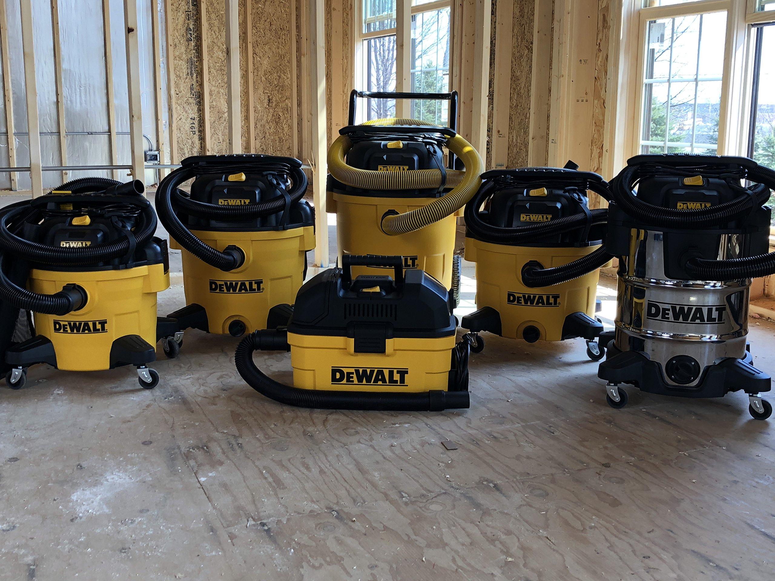 DEWALT DXV10P 10 Gallon Quiet Poly Wet Dry Vacuum Yellow by DEWALT (Image #3)
