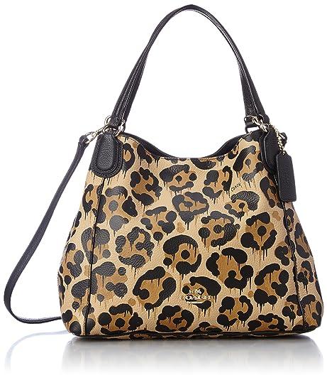 COACH Women s Leopard Ocelot Print Edie 28 LI Wild Beast Cross Body   Amazon.ca  Shoes   Handbags dab48d13b3b4d