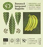 Doves Farm Gluten Free Banana and Hemp Seed Flapjacks Multipack 4 x 35g (Pack of 7)