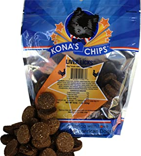 product image for KONA'S CHIPS Liver Licks Dog Treats 1 lb Bag