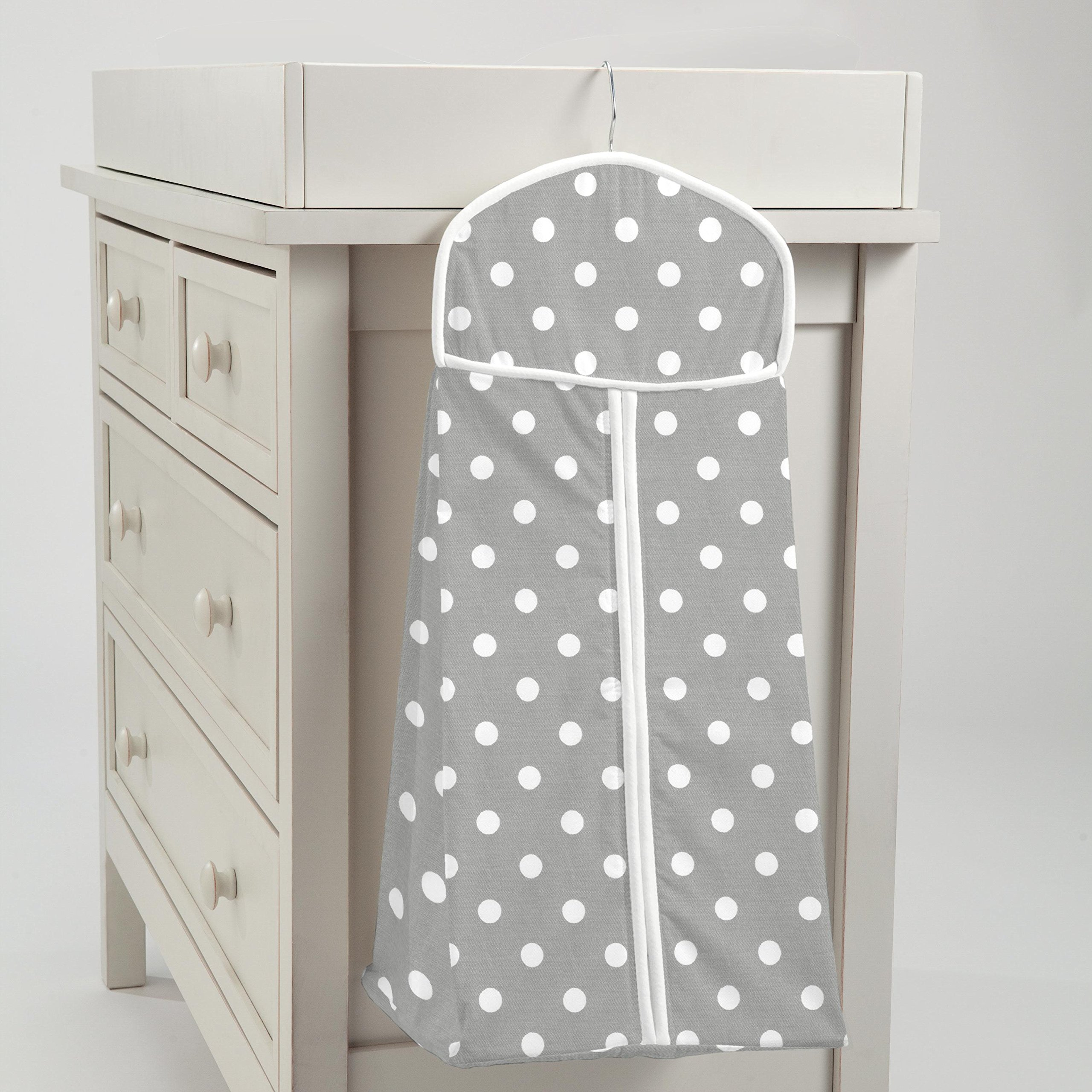 Carousel Designs Gray and White Dots and Stripes Diaper Stacker