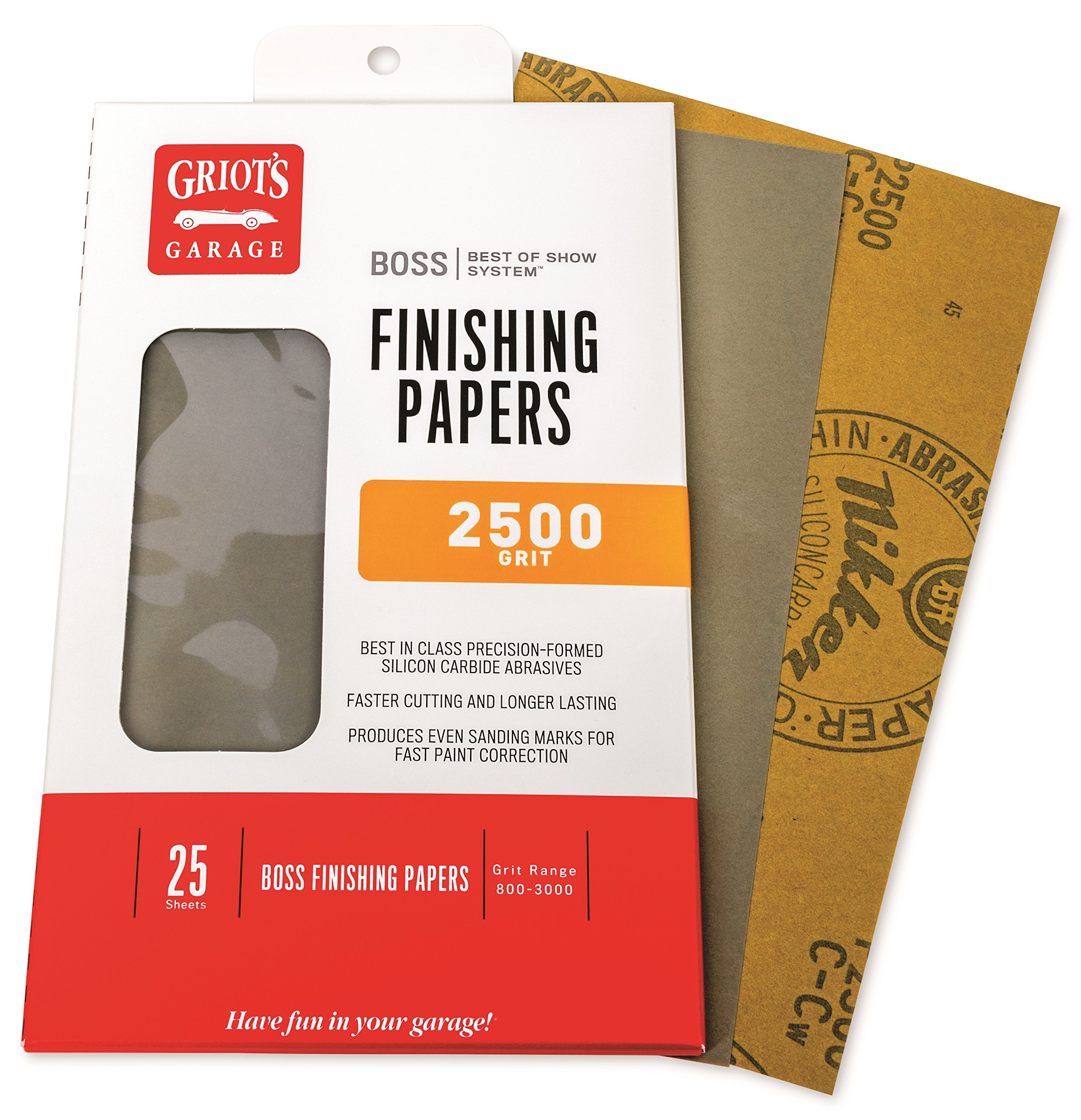 Griot's Garage B2525 Boss Finishing Papers 2500g (25 Sheets)