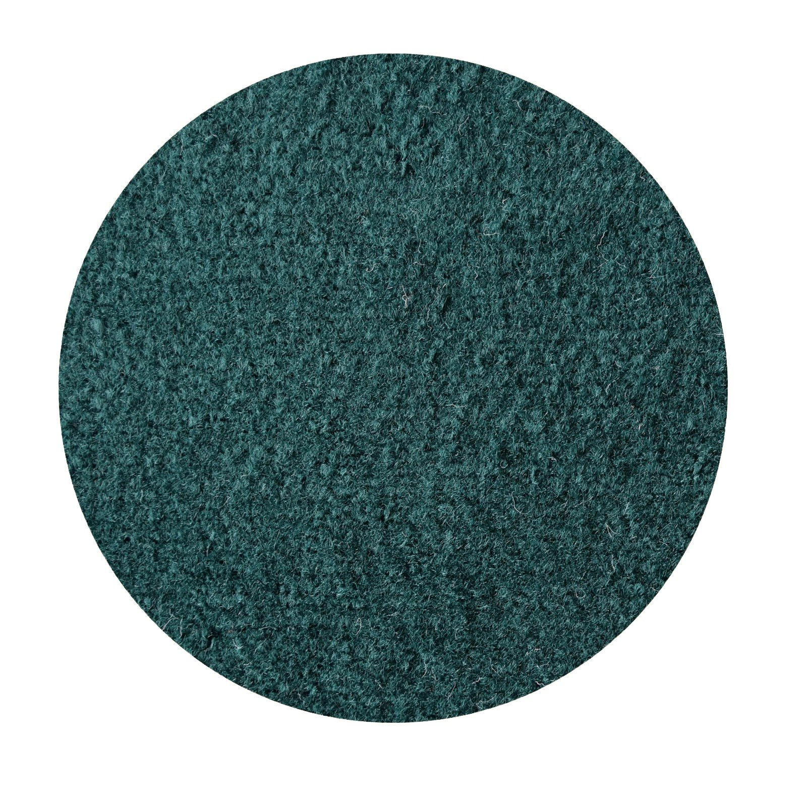 Ambiant Indoor/Outdoor Area Rug with Rubber Marine Backing for Patio, Porch, Deck, Boat, Basement or Garage with Premium Bound Polyester Edges Green 8' Round