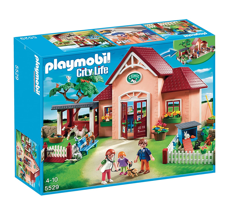 Playmobil - A1502713 - Jeu De Construction - Clinique Vétérinaire 5529 Jeu d'imitation - Docteur