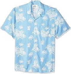 2ec9b2d4 Amazon Brand - 28 Palms Men's Standard-Fit Vintage Washed 100% Rayon Tropical  Hawaiian