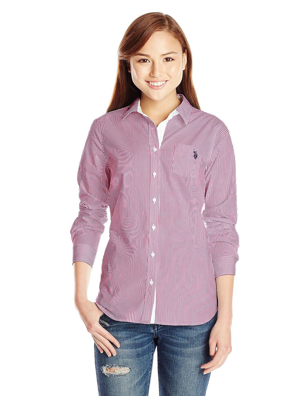 U.S. Polo Assn. Juniors' Long Sleeve Stretch Poplin Woven Shirt