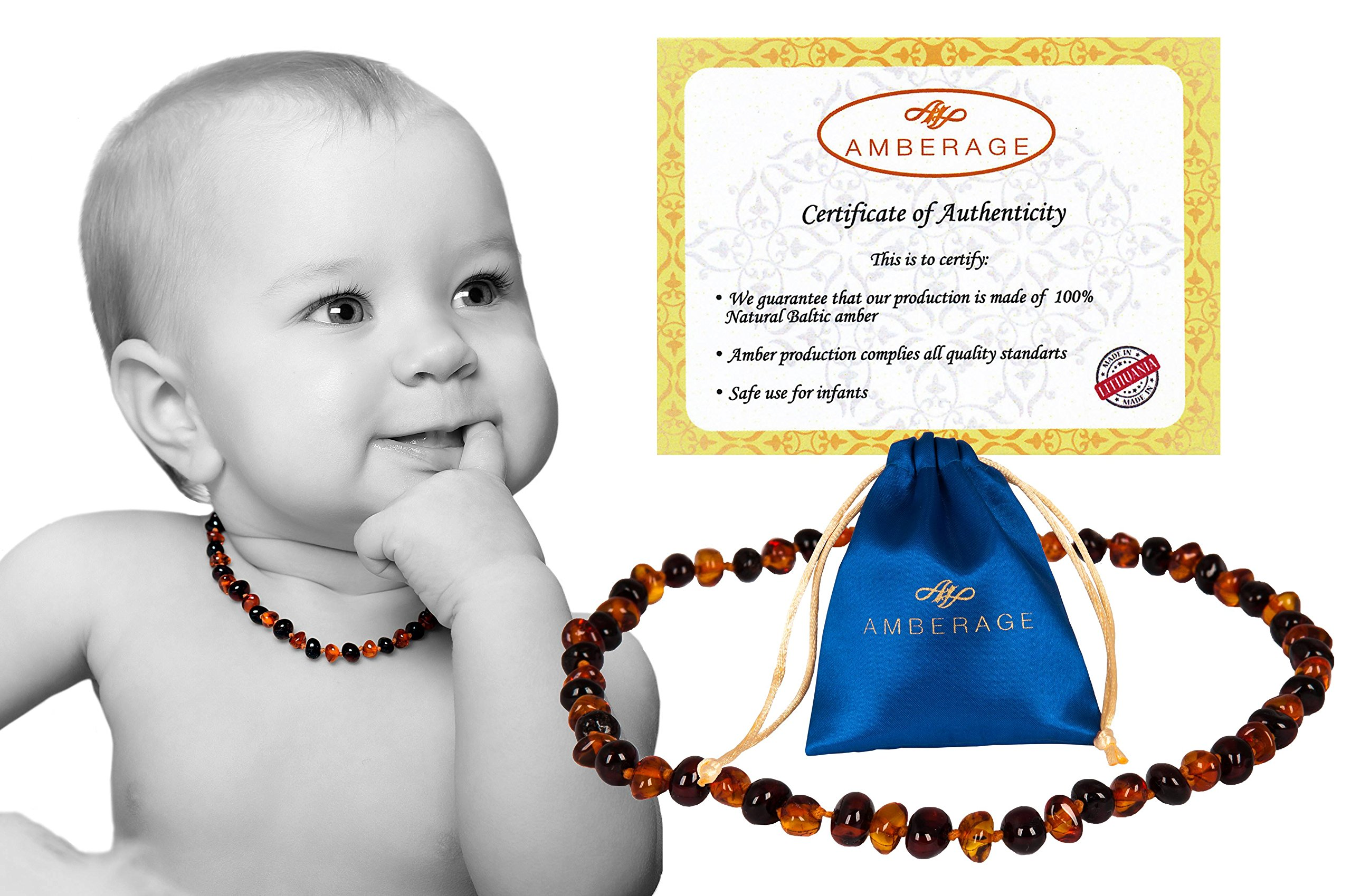 Certified Amber Beads 50/% Higher in Value and Effectiveness Extra Safe Teething Necklace with Teething Pain /& Drooling Reduce Properties//HNY.P-BN29.5 Baltic Secret BN29.5-HNY.P-BN-US03.22 Amber Teething Necklace for Babies