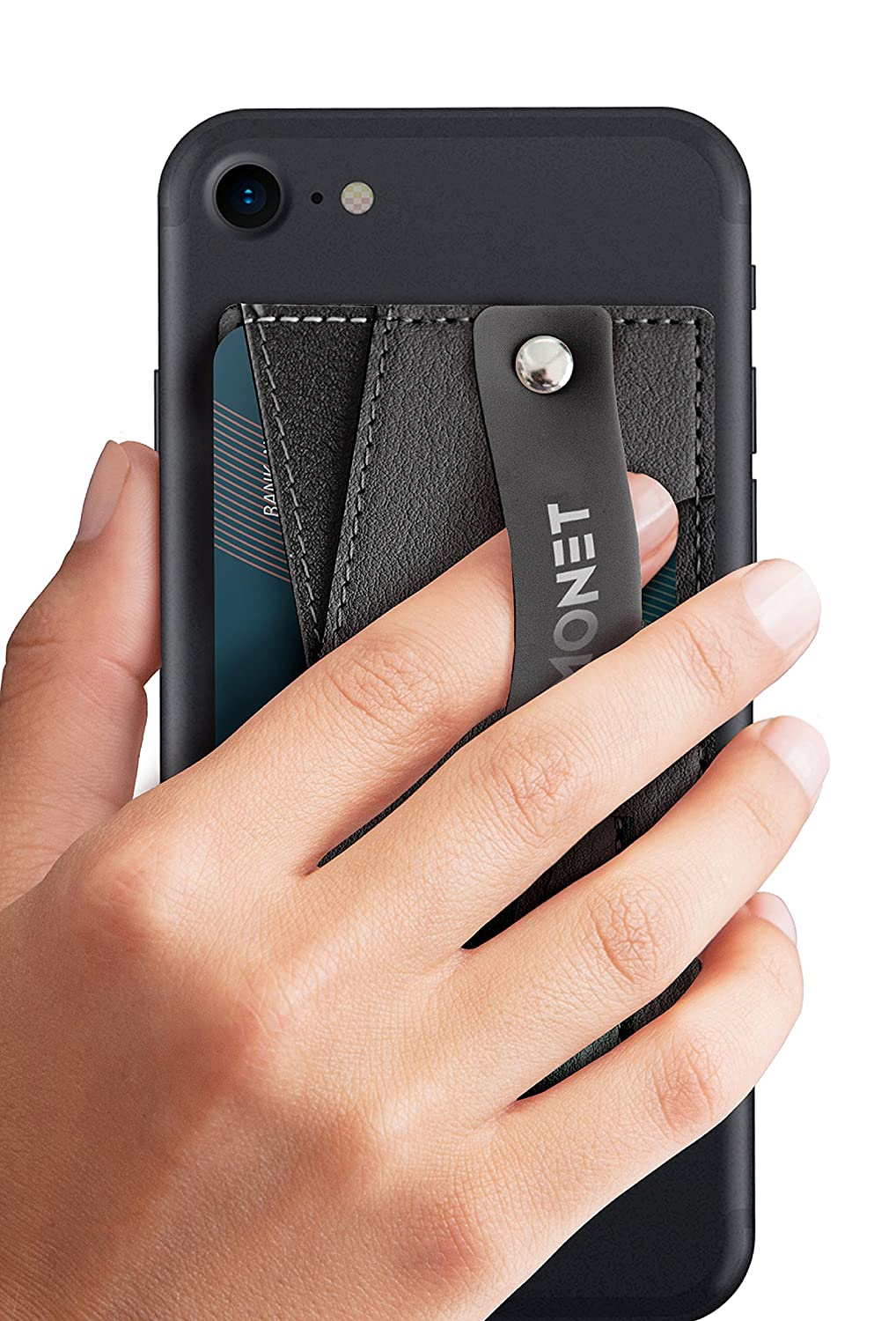 Monet Slim Wallet with Expanding Stand and Grip for Smartphones (Black Night)