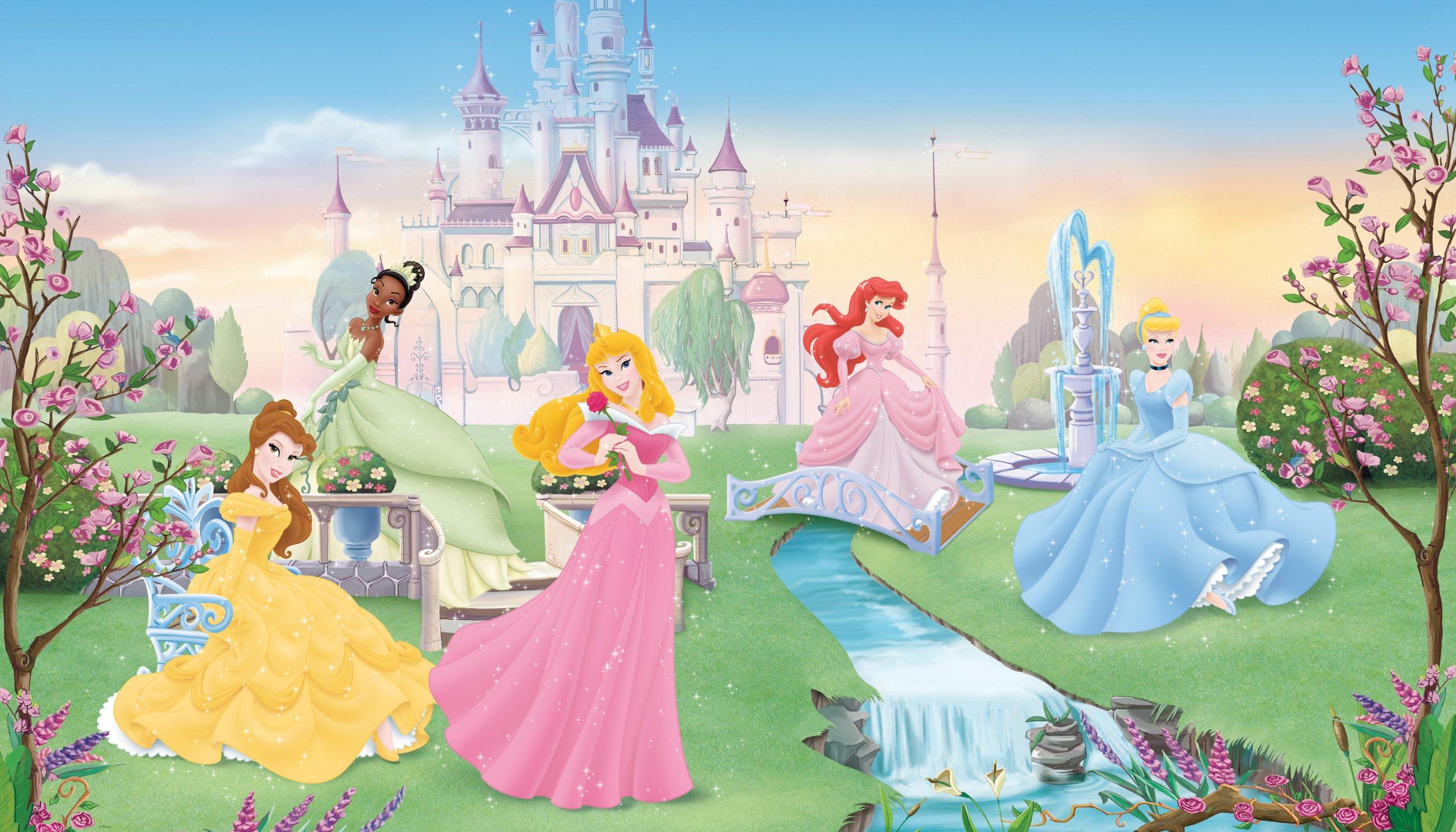 RoomMates JL1228M Disney Dancing Princess 6-Foot-by-10.5-Foot Prepasted Wall Mural