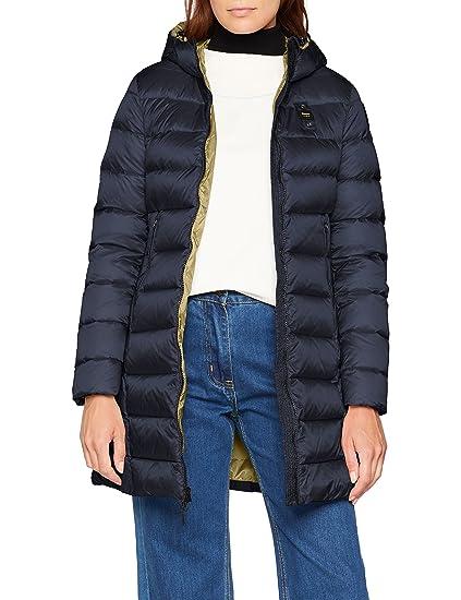 Blauer Usa Damen Mantel Impermeabilelungo Imbottito Piuma
