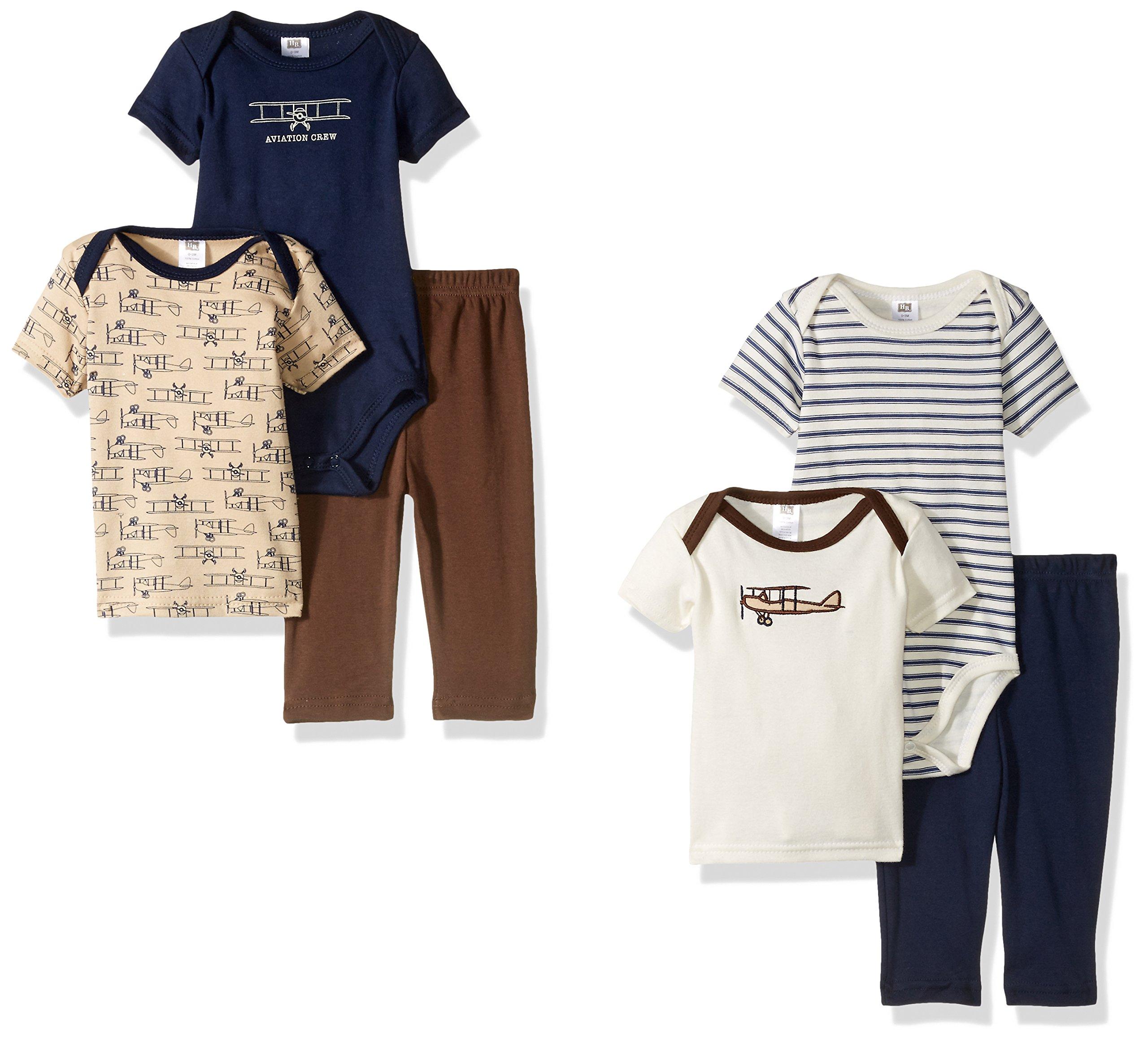 Amazon Hudson Baby 6 Piece Bib and Burp Cloth Set Airplane Baby