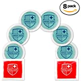 Gel Hot-Cold Ice Packs (8-Pack) - INCLUDES 2 Red Square Gel Packs: Reusable, Flexible, Non-Toxic. Freeze or Heat Therapy, Pain Relief, Reduce Swelling or Soreness (8-pack)