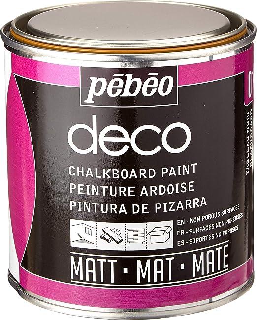Pébéo Deco Ardoise 500 Ml Tableau Noir Peinture Pébéo Ardoise Peinture Acrylique Tableau Noir Ardoise Murale Peinture Ardoise Craie Pour