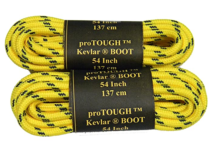 Yellow w/ Black Yellow Jacket Kevlar (R) proTOUGH(TM) Boot Shoelaces 2 pair  pack: Amazon.ca: Shoes & Handbags