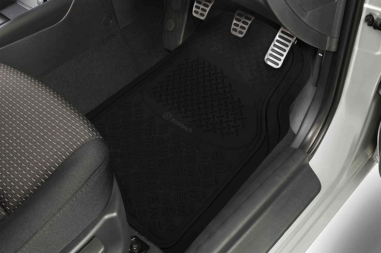 Zone Tech Extra Heavy Duty Rubber Floor Mats 3 Piece Set
