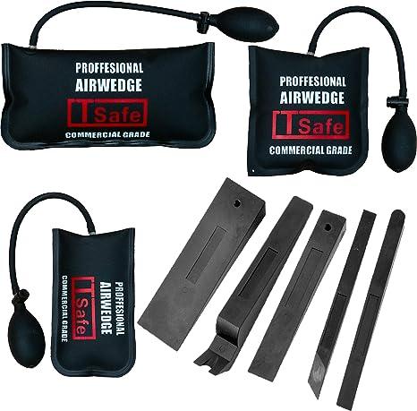 TSafe Full Professional Kit- Long Reach Grabber Short Grabber 2 Non Marring Wedges Air Wedge Carrying Case Knob Grabber Pry Tool