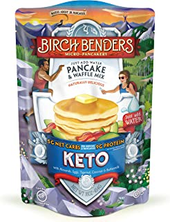 product image for Birch Benders Pancake & Waffle Mix, Low Carb, High Protein, Grain-free, Gluten-free, Low Glycemic, Friendly, Made with Almond, Coconut & Cassava Flour, Just Add Water, Keto, 16 Oz