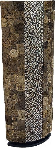 Fibradivetro Realizzata a Mano a Bali in Materiale Naturale 150x26x26 cm Modello Apollo-capiz Lampada da Terra//Lampada da Terra Apparecchi per Stand in Materiali Naturali Capiz//madreperla