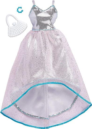 Barbie- Abito da Sera Argento, Bambola Non Inclusa, FKT11: Amazon