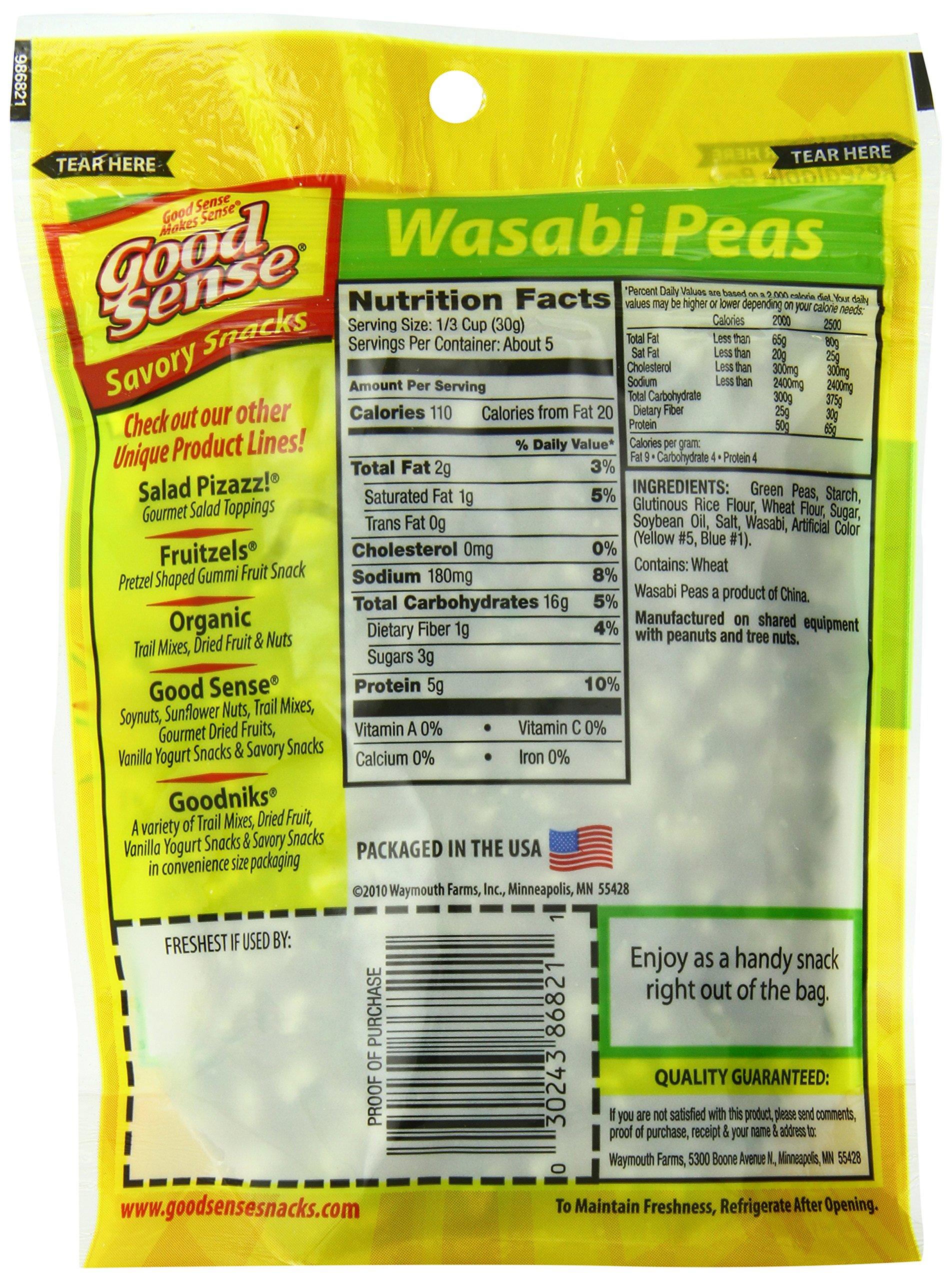Good Sense Savory Snacks, Wasabi Peas, 5-Ounce Bags (Pack of 12) by Good Sense (Image #4)