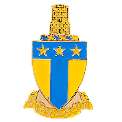 Alpha Tau Omega Ato Gold Color Crest Lapel Pin Fraternity Crest