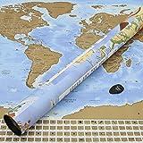 Perfect Travel Map - mappa XXL del pianeta da grattare - ideale per viaggiatori ed amanti dell'avventura (Poster: 83,6 x 60,5 cm)