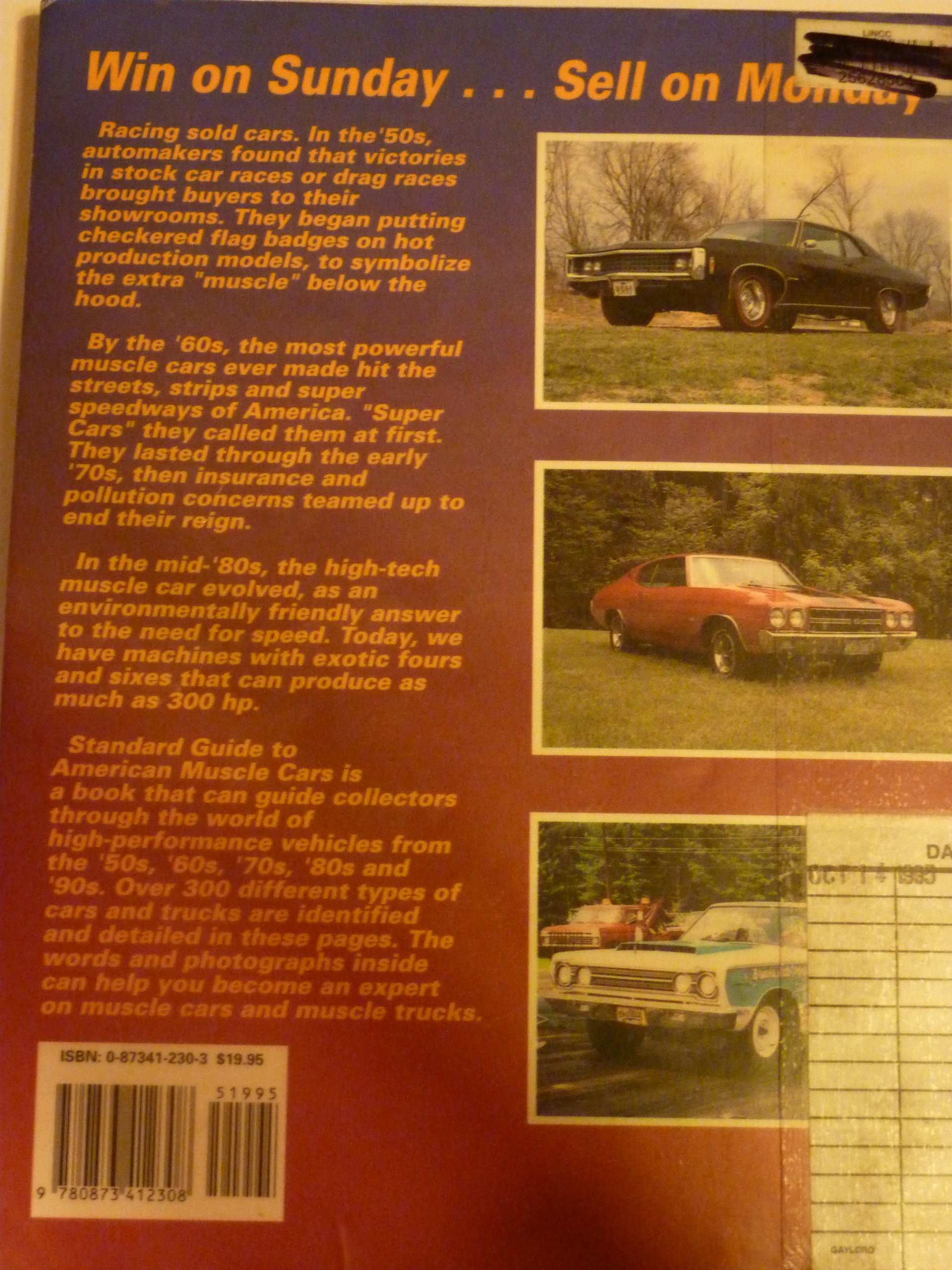 Standard Guide To American Muscle Cars A Supercar Source Book 1949