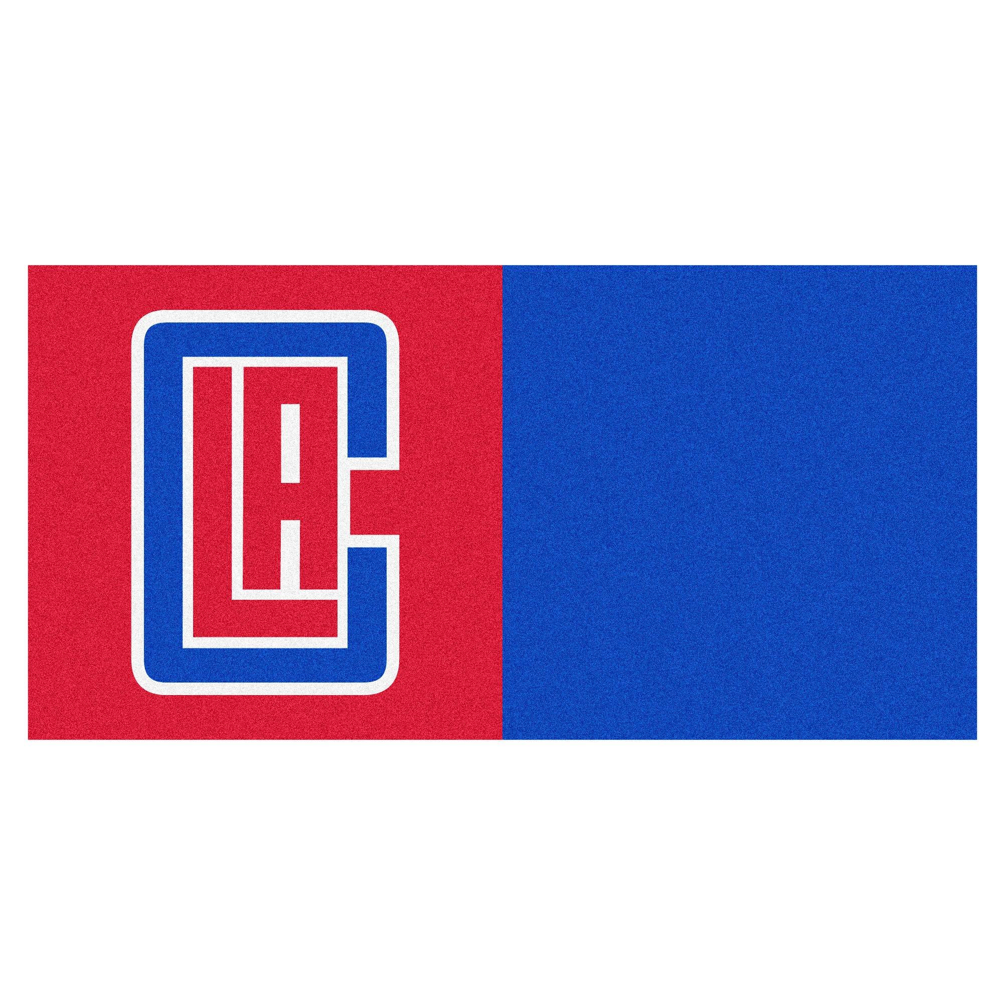 FANMATS NBA Los Angeles Clippers Nylon Face Team Carpet Tiles