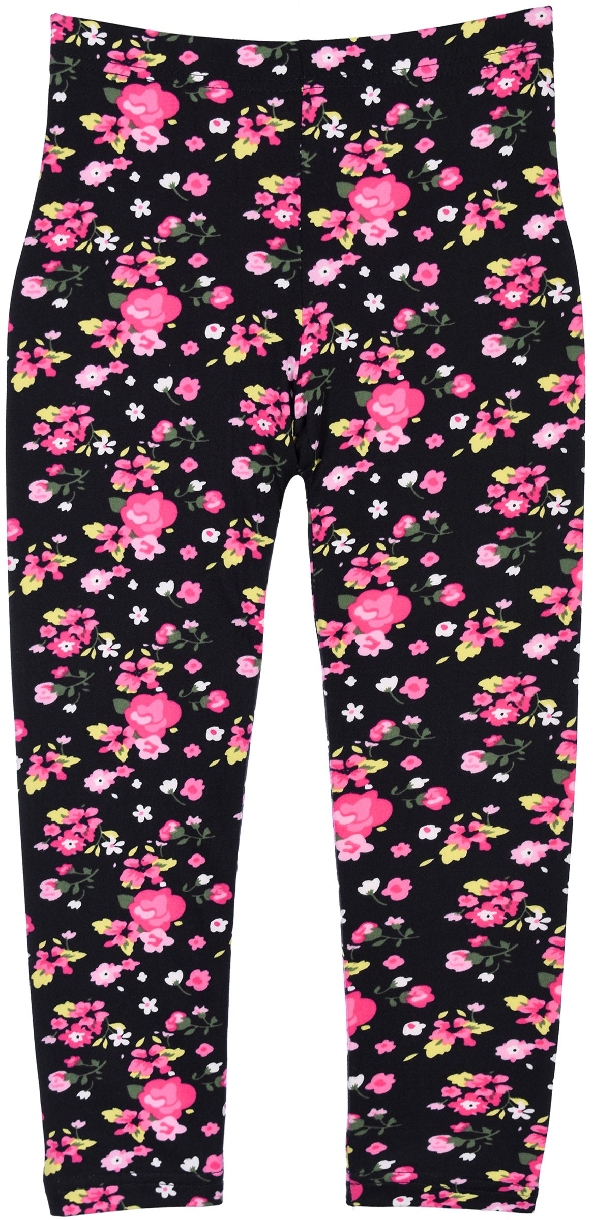 Crush Young Girls Teen Print Leggings in 8 Fun Colorful Patterns in 6 Sizes (4, 24102 Black)