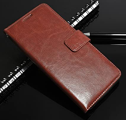 Mobi Case Premium Pu Leather Flip Wallet Stand Cover Inner TPU Back for Samsung Galaxy On8   Executive Brown