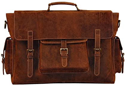 45f6f208d5 Amazon.com  Leather Laptop Messenger Bag for Men - Premium Office ...