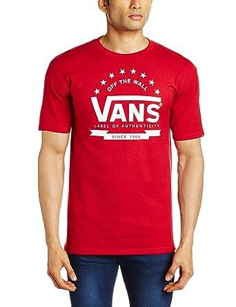 vans t shirt mens red