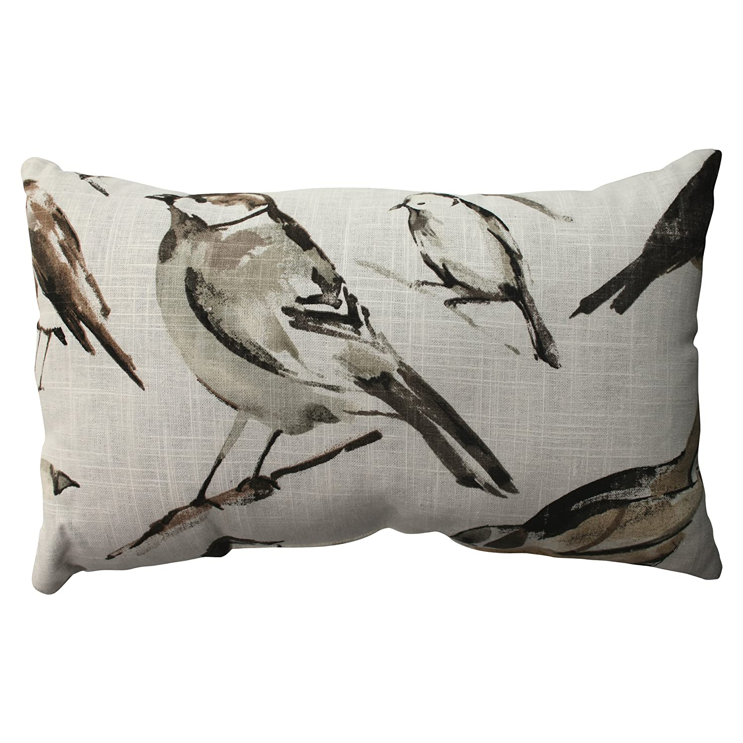Pillow Perfect Bird Watcher Floor Pillow, 24.5-Inch, Charcoal 512389