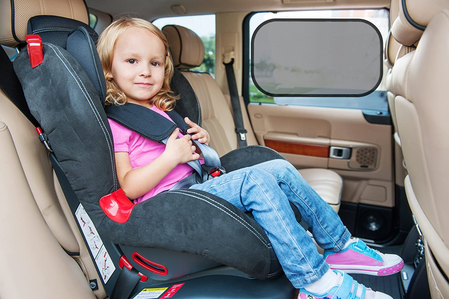 Sticks with Static Cling and Suction Cups OZNC Global Ithalat Ihracat Ltd Sti. Made with Quality Mesh Convenient Storage//Travel Pouch Car Sunshades Stop 98/% of Harmful UV Rays with 2 Shades for Side Windows and 1 Rear Window