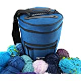 Premium Yarn Storage Tote Bag- Protect and Store Yarn & Stay Organized. Portable and Easy to Carry Knitting Crochet Yarn Holder with Pockets. Slits on Top to Protect Wool and Prevent Tangling.