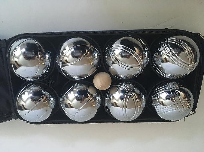 Amazon.com: 73 mm metal Bocce/petanca Set con bolas de oro y ...