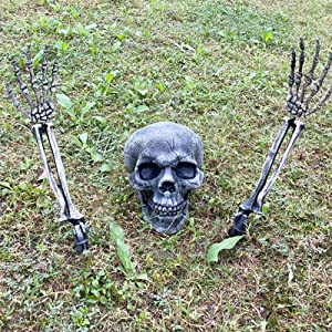 CHICHIC Realistic Looking Skeleton Stakes, Garden Graveyard Yard Lawn Stakes, Halloween Yard Decorations, Ground Breaker Skeleton for Best Outdoor Halloween Decorations Halloween Décor