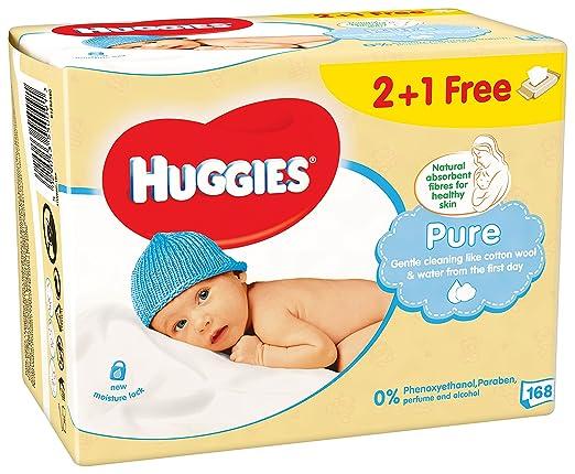 9 opinioni per Huggies Pure Salviette Umidificate per Bambini, 3 Pacchi da 56 Pezzi