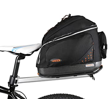 Ibera Bolsa para portaequipajes de Bicicleta + portaequipajes Set, pakrak Clip-on Commuter Bag & Carrier Plus + Rack Combo Set