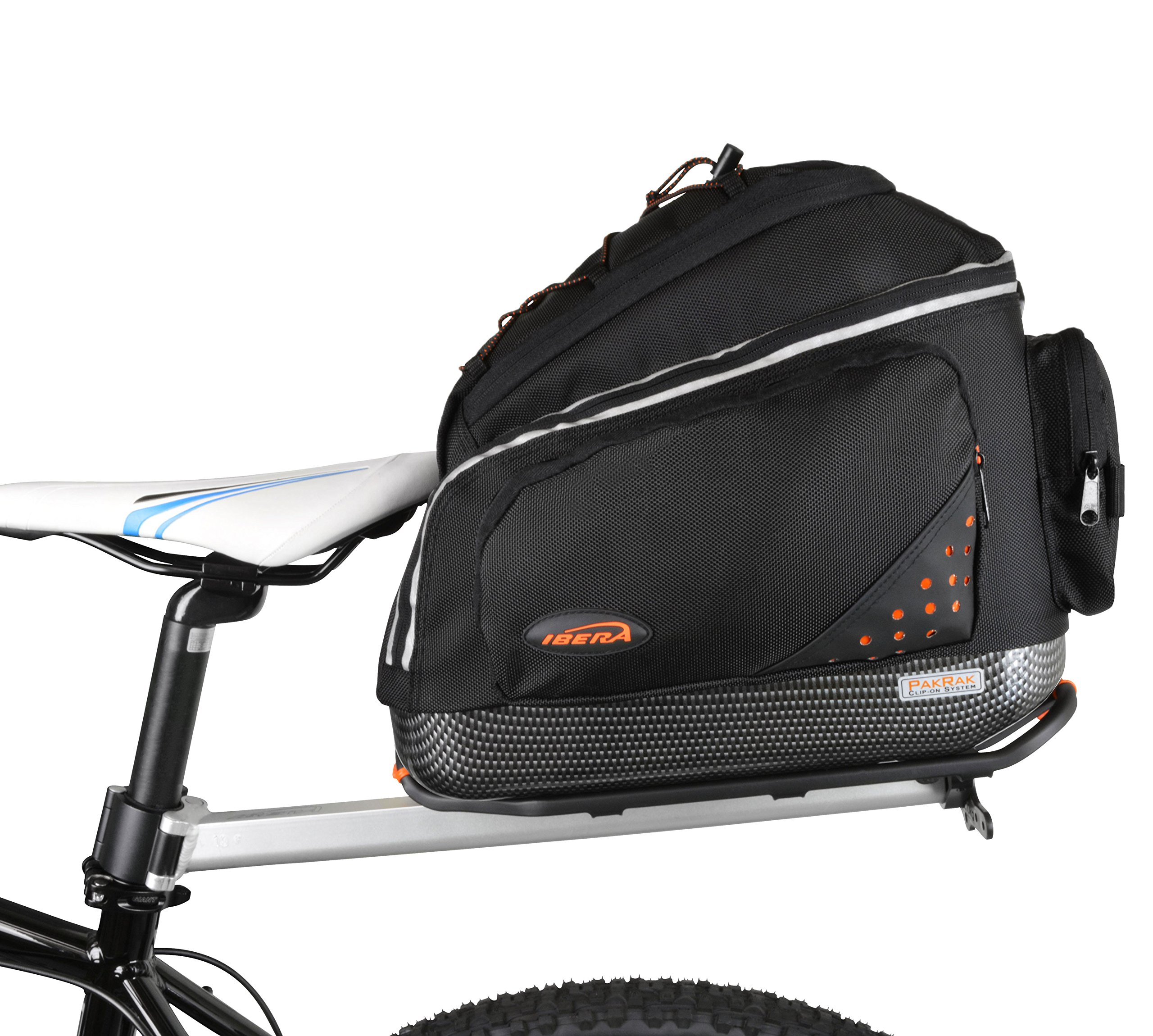 Ibera PakRak Bicycle Seat Post Commuter Rack and Quick-Release Bag by Ibera (Image #1)