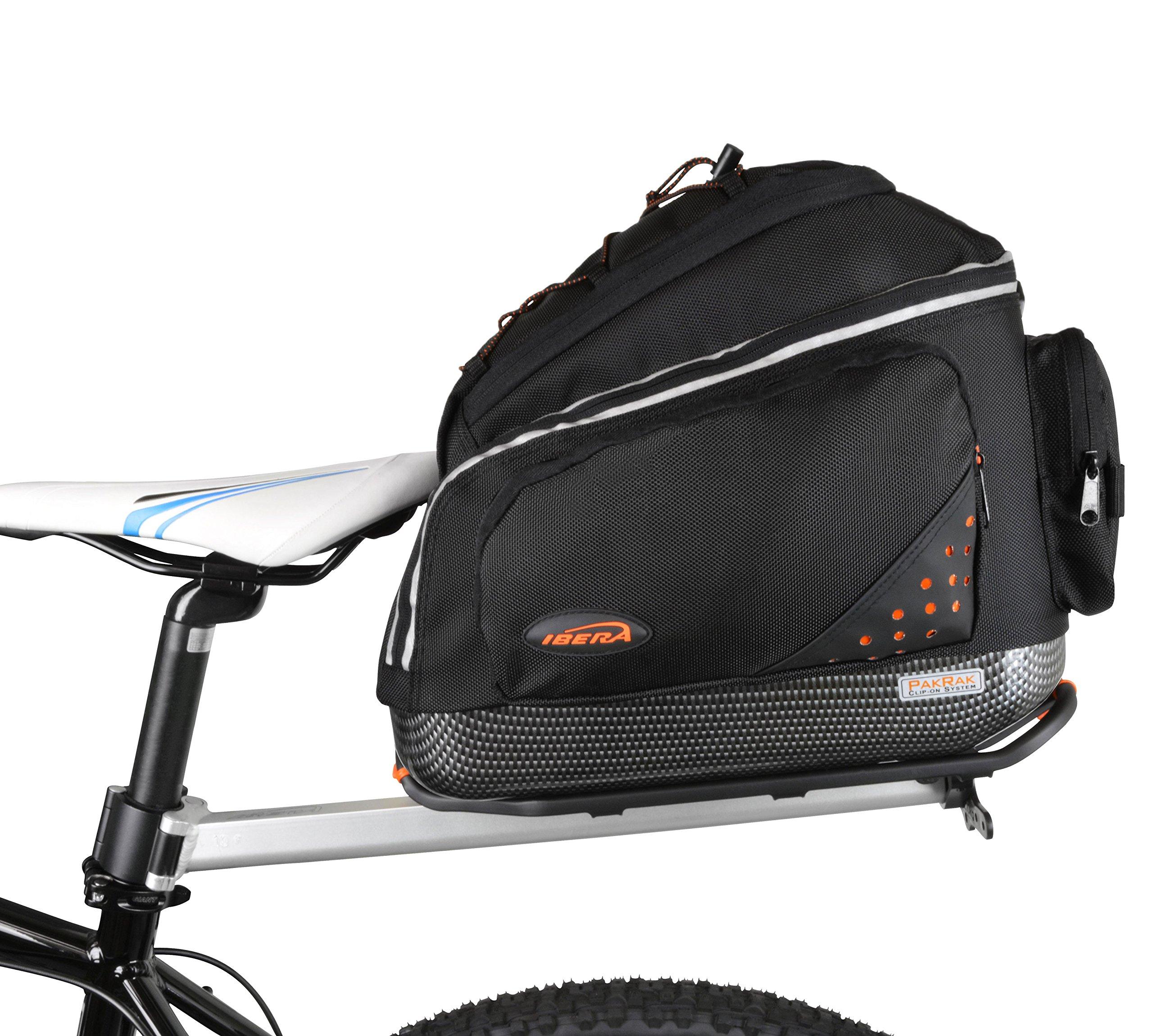 Ibera PakRak Bicycle Seat Post Commuter Rack and Quick-Release Bag