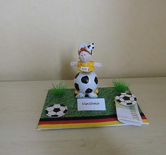 Geldgeschenk Deko Fussball Amazon De Handmade