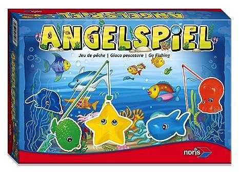 Noris 606049103 - Angelspiel mit 4 Angeln, Kinderspiel