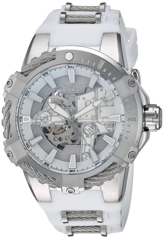 Invicta Men 's ' Star Wars ' Automaticステンレススチールand Silicone Watch , Color : White ( Model : 26222 ) B07BQ8T58L