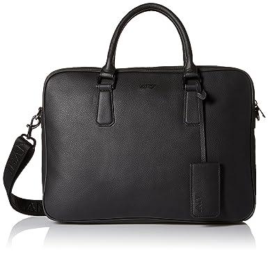1c8ae65a240 Amazon.com  Armani Exchange Men s Leather Laptop Briefcase, Black ...