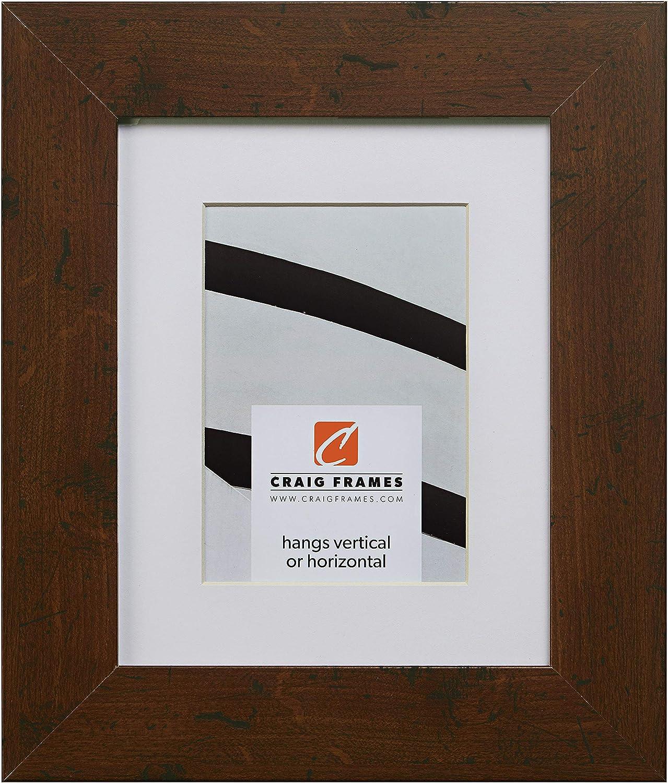 Craig Frames FM74DKW 20 x 24 Inch Dark Walnut Brown Picture Frame Matted to Display a 16 x 20 Inch Photo