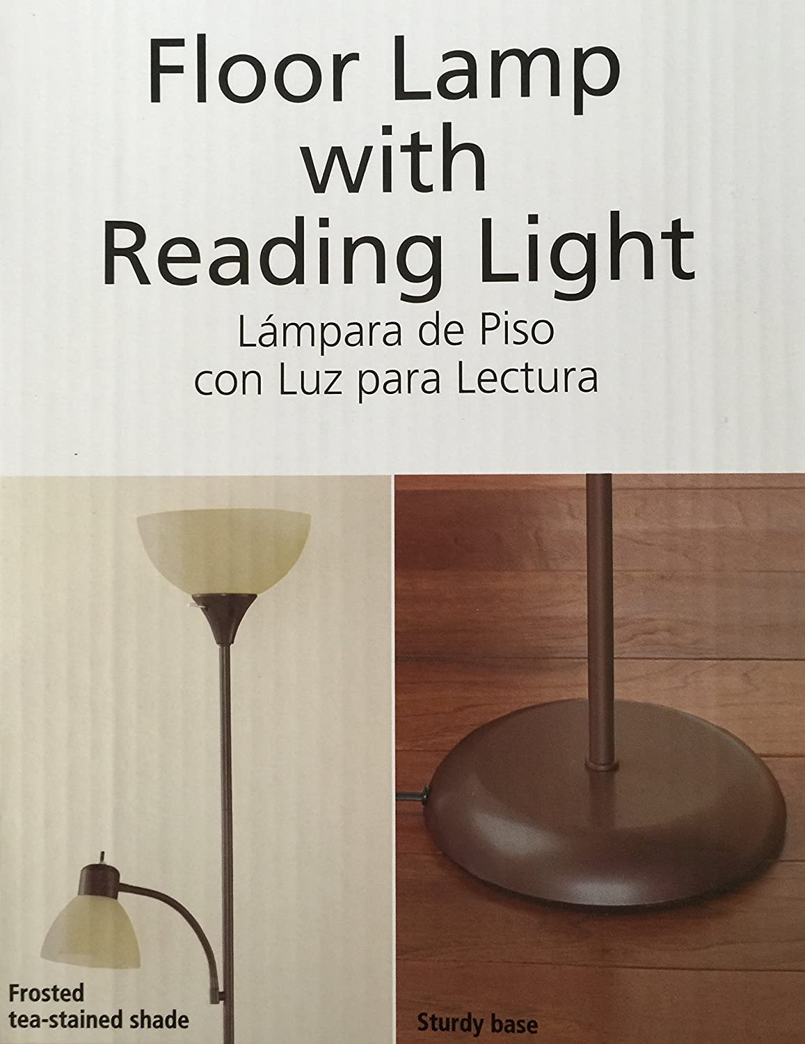 brown floor lamp with reading light 72