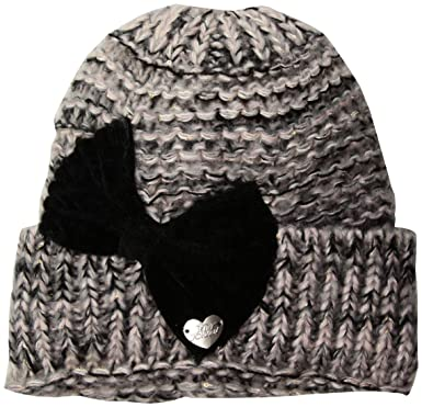 586c6e619e8456 Betsey Johnson Womens Bowmg Cuff Hat Winter Hat - Off-White -: Amazon.co.uk:  Clothing