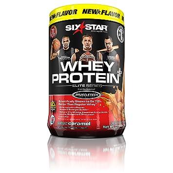 Six Star Pro Nutrition 100% Whey Protein Plus, Whey Protein Powder, Salted  Caramel